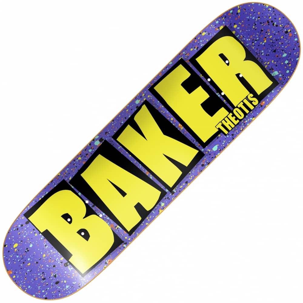 baker skateboards beasley brand name splat skateboard deck