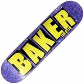Baker Skateboards Beasley Brand Name Splat Skateboard Deck 8.3875""