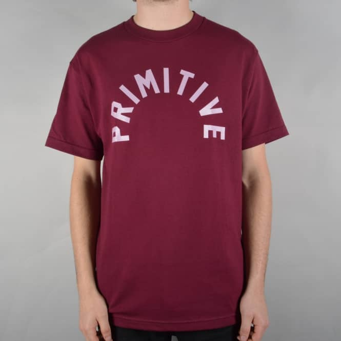 Primitive Skateboarding Big Arch Skate T-Shirt - Burgundy
