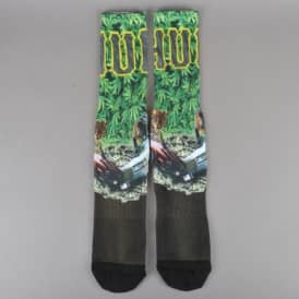 Big Cats Crew Socks - Green