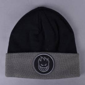 Bighead Circle Cuff Beanie - Grey/Black