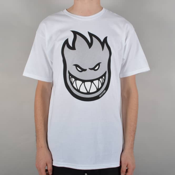 Spitfire Wheels Bighead Fill Skate T-Shirt - White/Grey