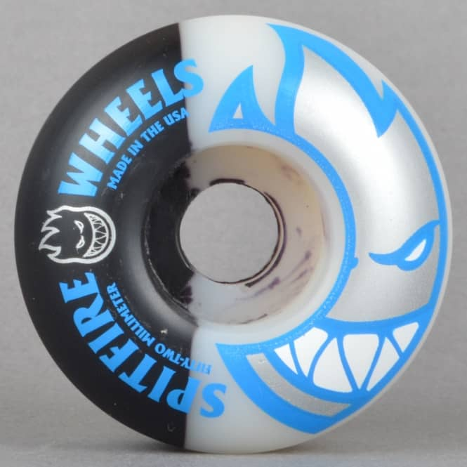 Spitfire Wheels Bighead Swirl Black/White Skateboard Wheels 52mm