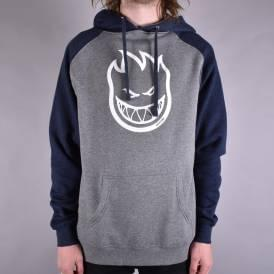 Bighead Two Tone Pullover Hoodie - Gunmetal Heather/Navy Heather