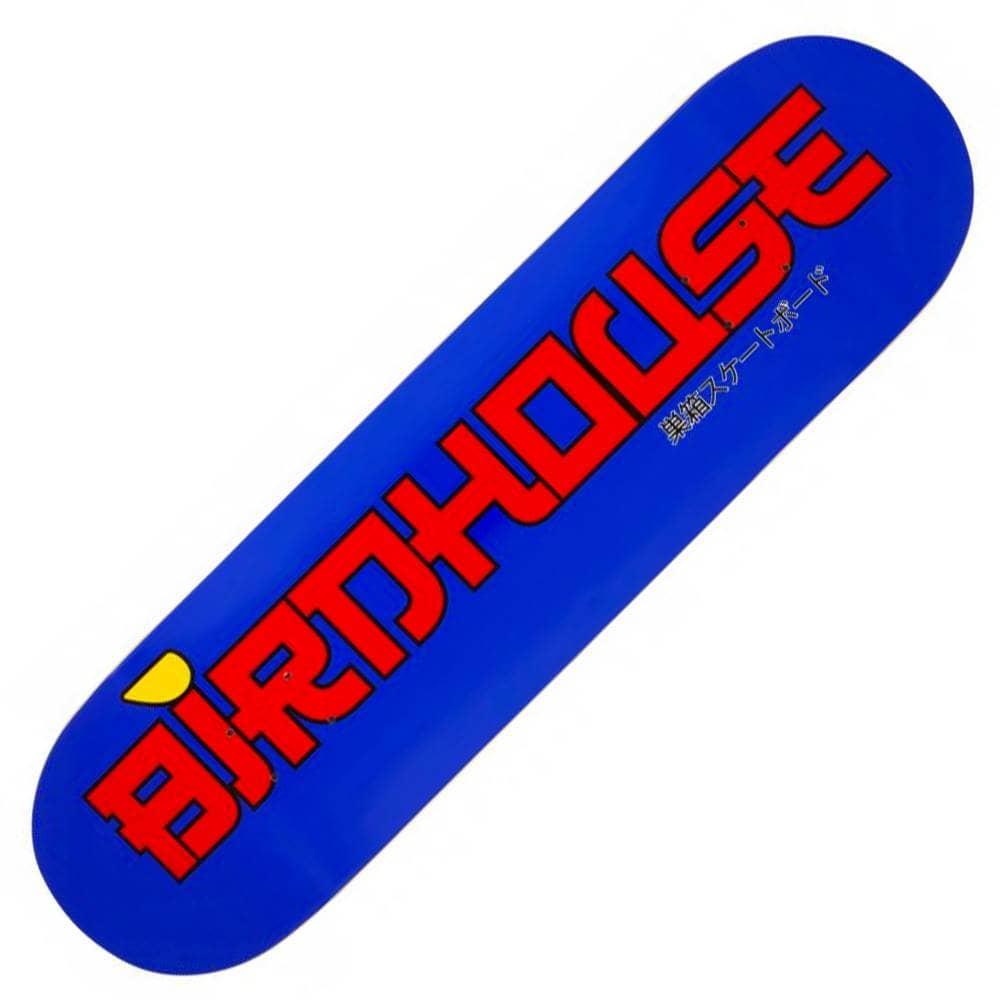 "Birdhouse Stacked Logo Skateboard Deck Blue//Red 8/"""