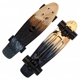 Black/Gold Fade Penny Cruiser Skateboard 22''