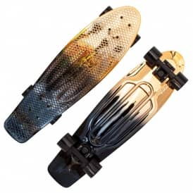 Black/Gold Fade Penny Cruiser Skateboard 27''
