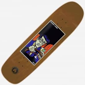 Black Label Skateboards 502 (Brown Stain) Custom Skateboard Deck 8.75''