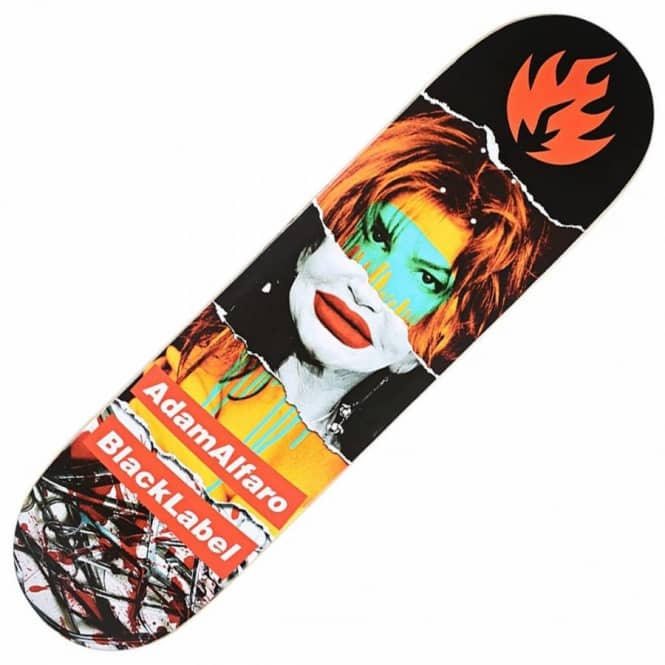 Black Label Skateboards Adam Alfaro Faded Beauty Skateboard Deck 8.25''
