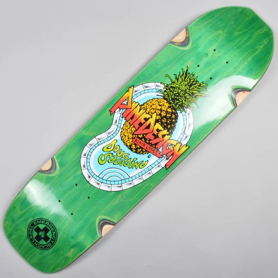 Black Label Skateboards Doug Saladino Pine Design Green