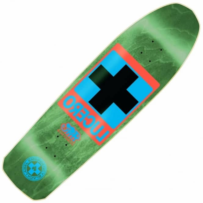 Black Label Skateboards John Lucero OG Cross (Green Stain) Skateboard Deck 9.25