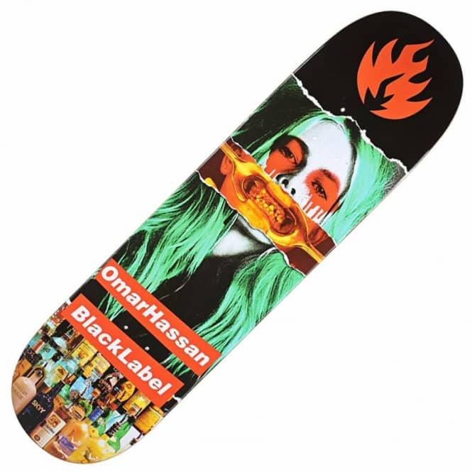 Black Label Skateboards Omar Hassan Faded Beauty Skateboard Deck 8.4''