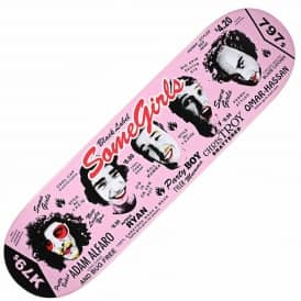 Black Label Skateboards Some Girls Pink Skateboard Deck 8.5''