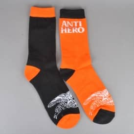 Blackhero Mix Match Socks - Orange/Black