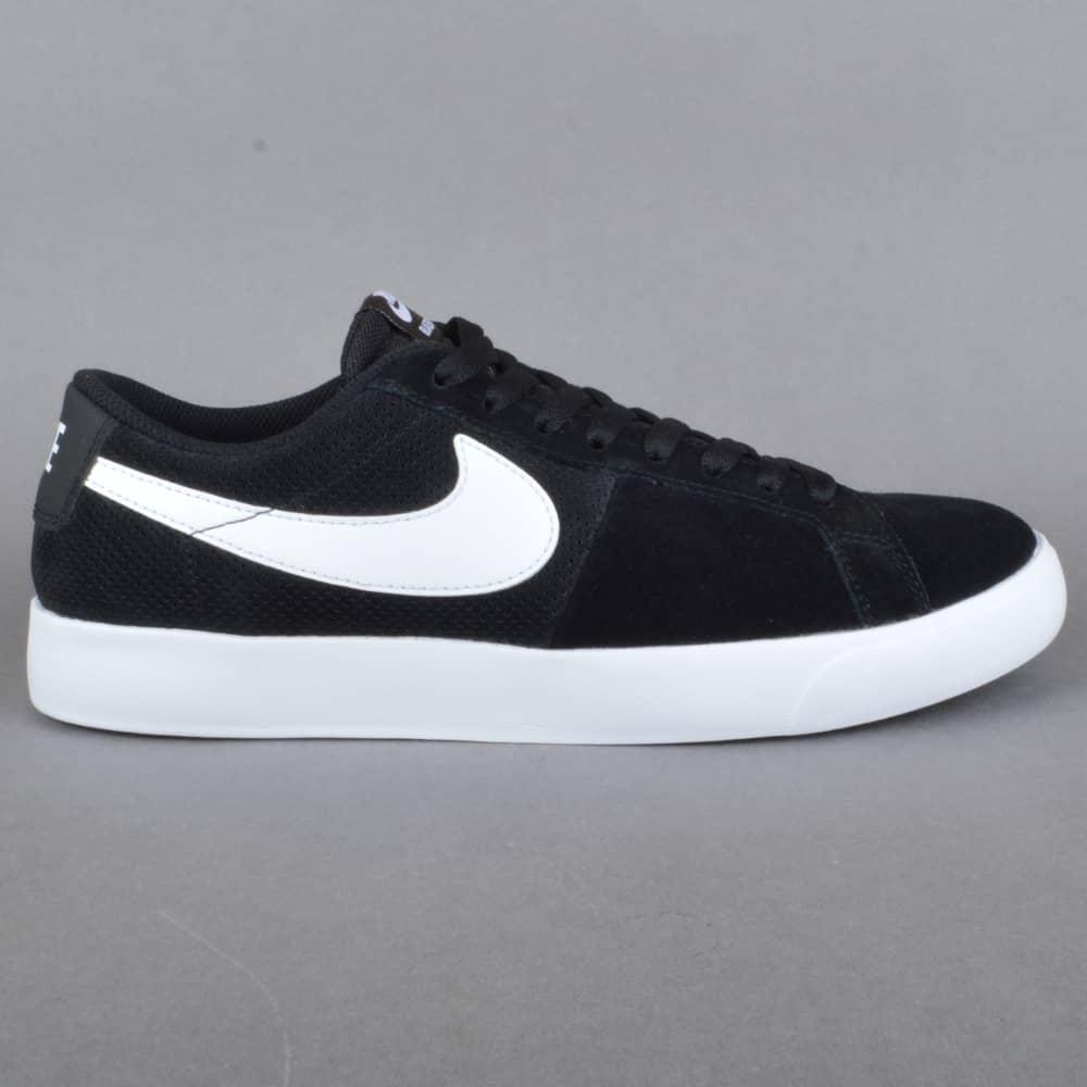 Nike Sb Blazer Low Shoes Black White
