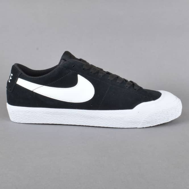 Nike SB Blazer Zoom Low XT Skate Shoes - Black/White-Gum Light Brown