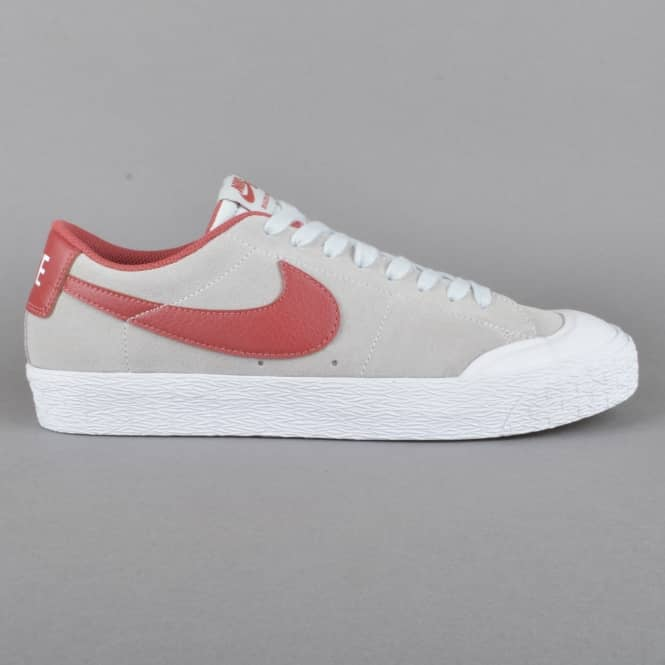 Nike SB Blazer Zoom Low XT Skate Shoes - Pure Platinum/Cedar-White
