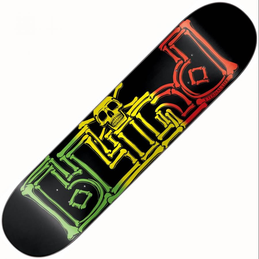 Blind Skateboards Blind Eternal Life Rasta Bones Deck 7.75 ...
