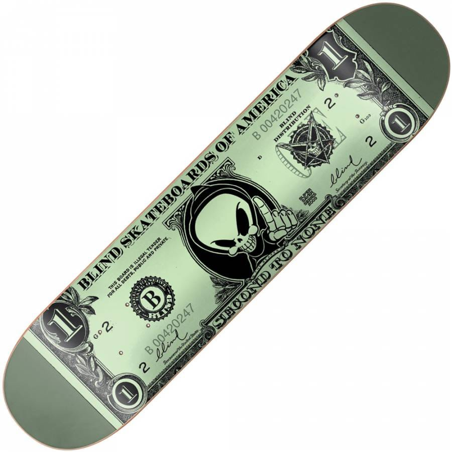 Blind Skateboards Blind Super Saver Dolla Bill Deck 7.5 ...