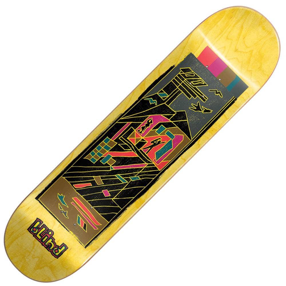 31e9785f01 Blind Skateboards Geo Map Yellow Skateboard Deck 8.25''