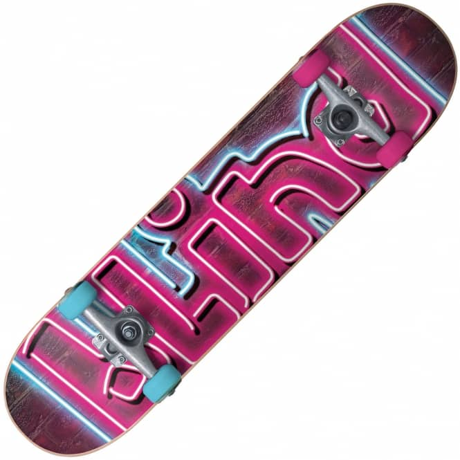 "Blind Skateboards Late Night Pink/Blue Complete Skateboard 7.375"" (With Xmas Stocking)"