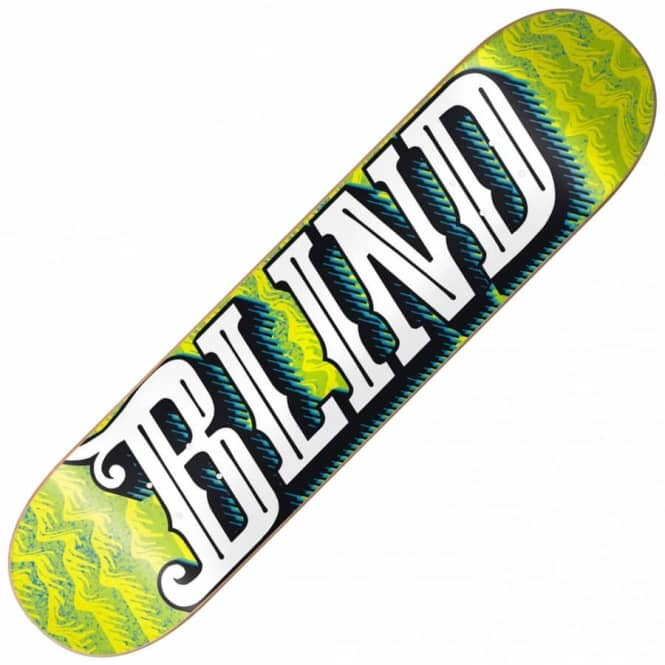 Blind Skateboards Line Up Green/Yellow Super Saver Skateboard Deck 8.0