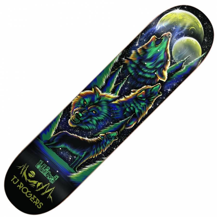Blind Skateboards Tj Rogers Wolf Pack Skateboard Deck 8 0