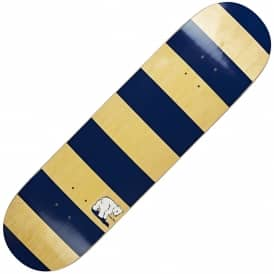 Block Stripe Navy/Yellow Stain Skateboard Deck 8.125