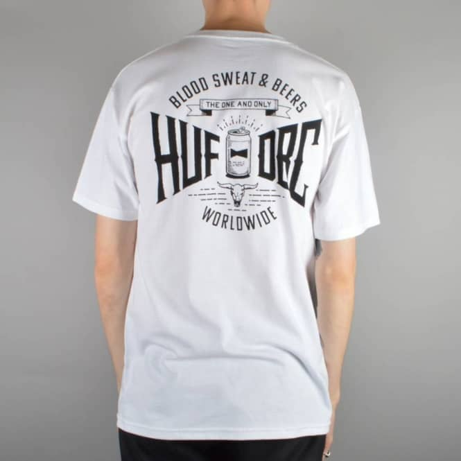 HUF Blood Sweat Beers T-Shirt - White