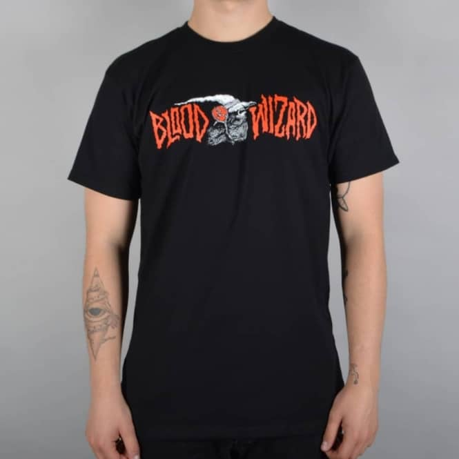 Blood Wizard Infernal Death Skate T-Shirt - Black
