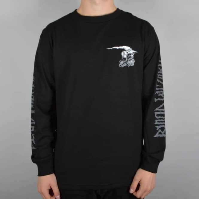 Blood Wizard Internal Death Longsleeve Skate T-Shirt - Black