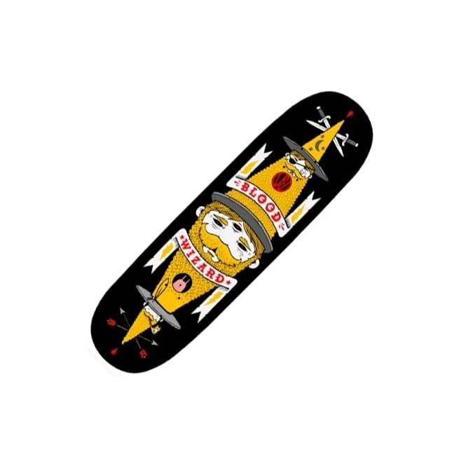 Blood Wizard Jeremy Fish Black Skateboard Deck 8.75