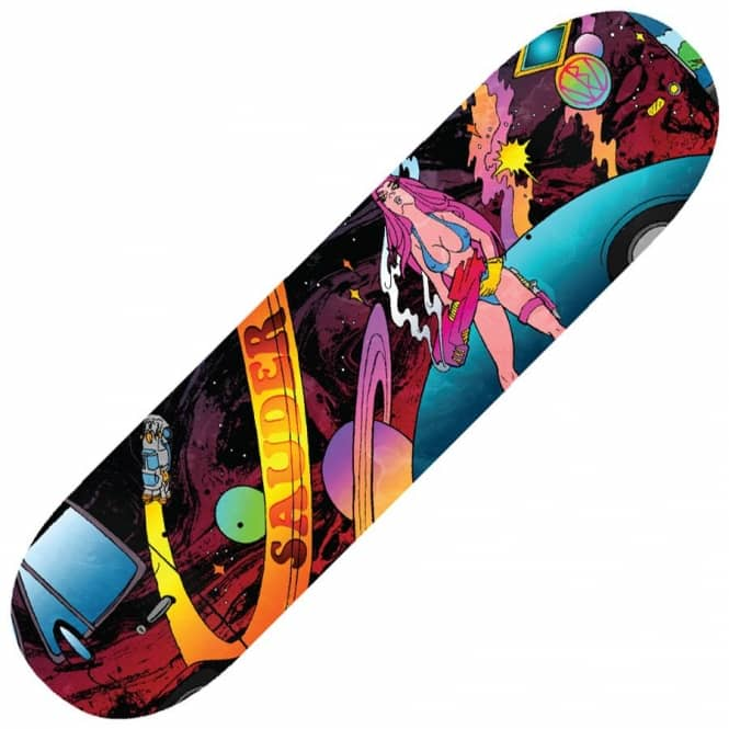 Blood Wizard Keegan Sauder Fubar Skateboard Deck 8.375