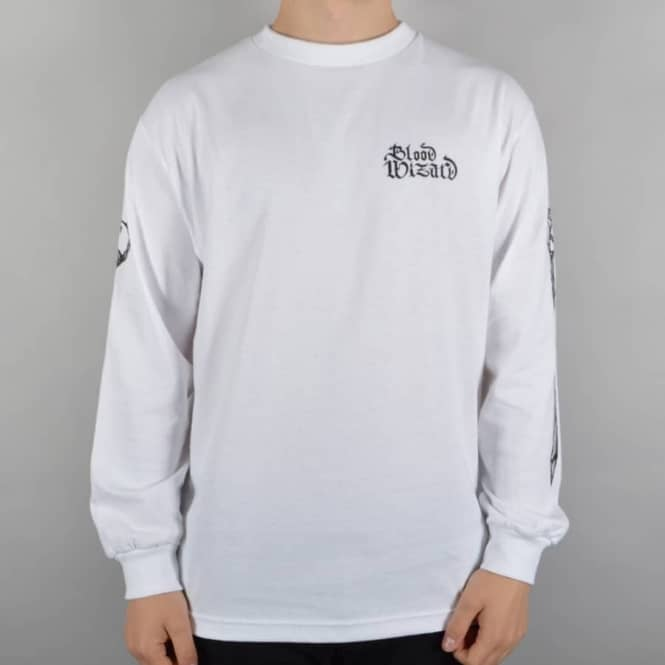 Blood Wizard WSOD Longsleeve Skate T-Shirt - White