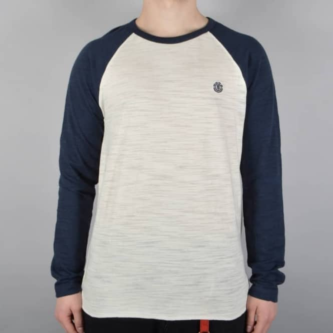 Element Skateboards Blunt Long Sleeve T-Shirt - White/Eclipse Navy