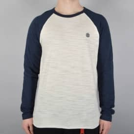 Blunt Long Sleeve T-Shirt - White/Eclipse Navy