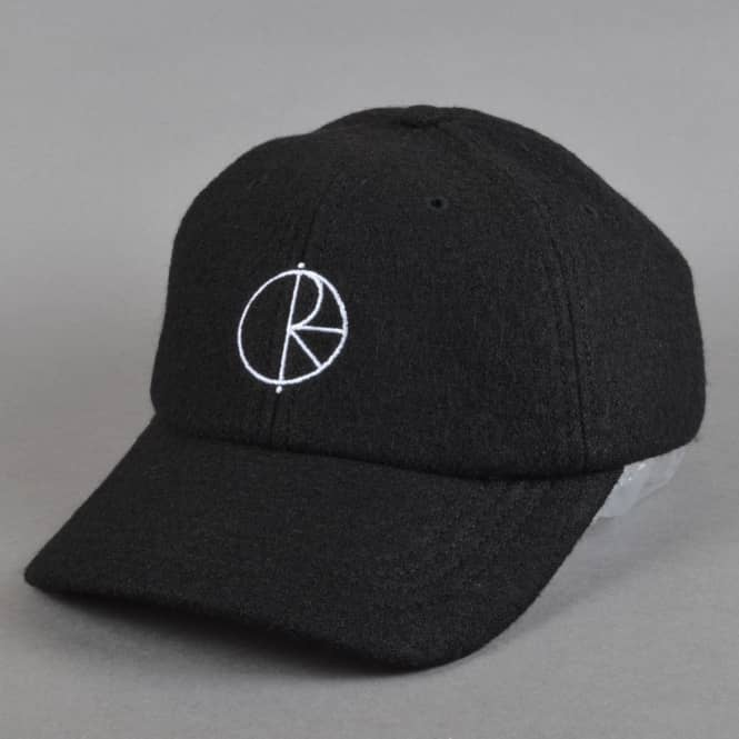 Polar Skateboards Boiled Wool Strapback Cap - Black