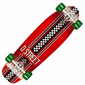 Bomber Check Red/Green Cruiser Skateboard