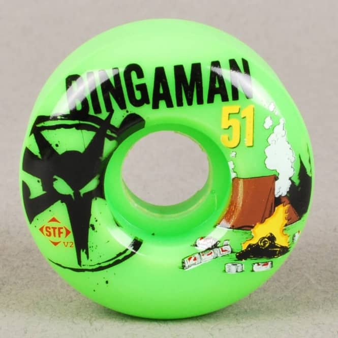 Bones Wheels Bones Bingaman Camp V2 STF Skateboard Wheel 51mm