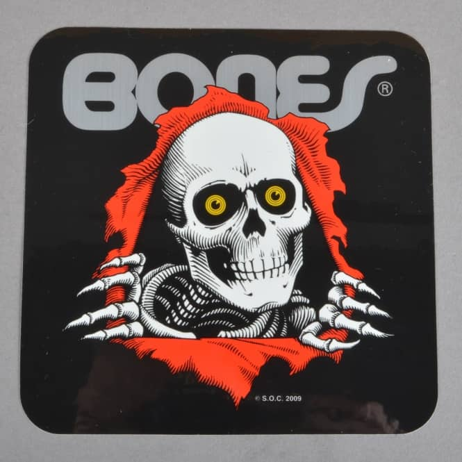 Powell Peralta Bones Ripper Black Skateboard Sticker - 5