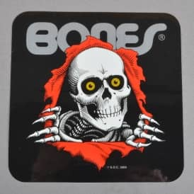 Bones Ripper Black Skateboard Sticker - 5