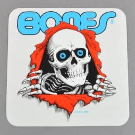Bones Ripper Clear Skateboard Sticker - 5