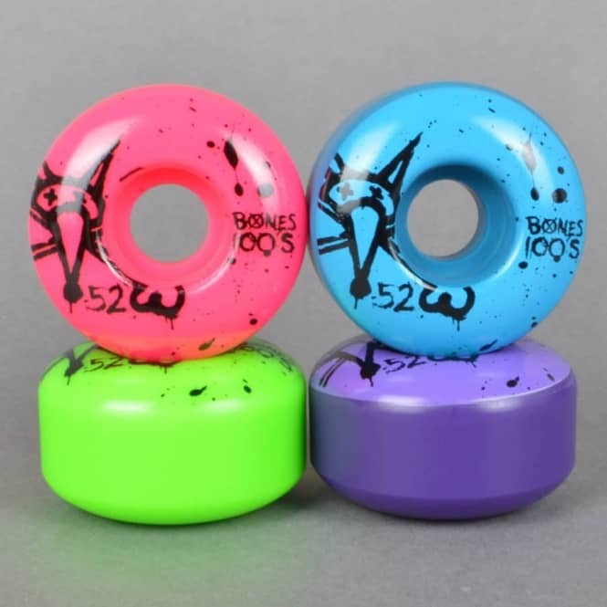 Bones Wheels 100's Party Pack #2 V1 Skateboard wheels 52mm