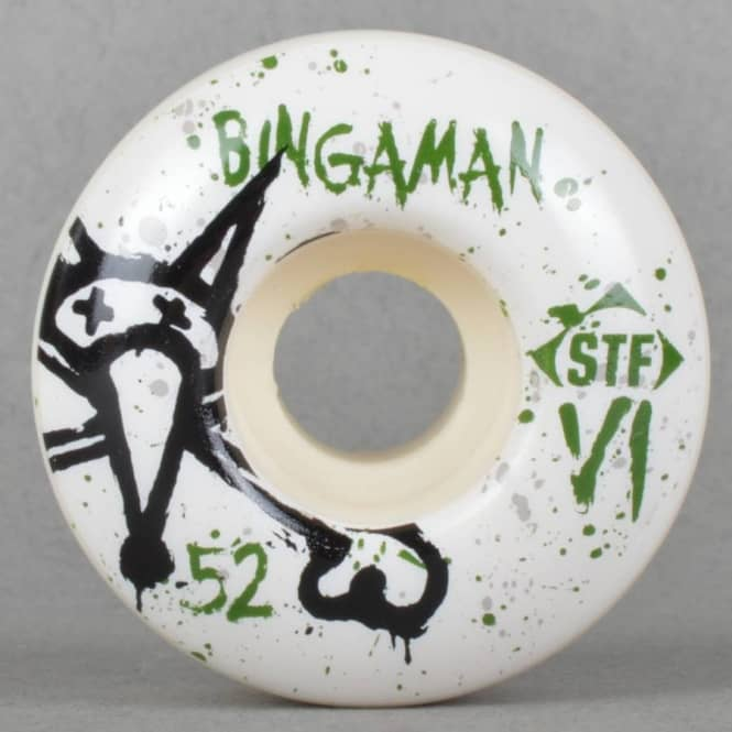 Bones Wheels Bingaman Vato Op V1 STF Skateboard Wheels 52mm