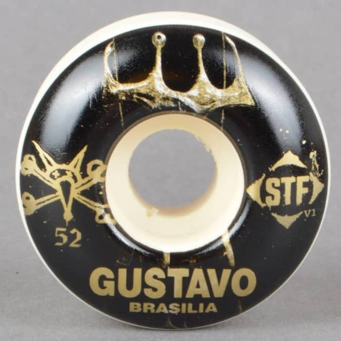 Bones Wheels Gustavo Brasilia V1 STF Skateboard Wheels 52mm