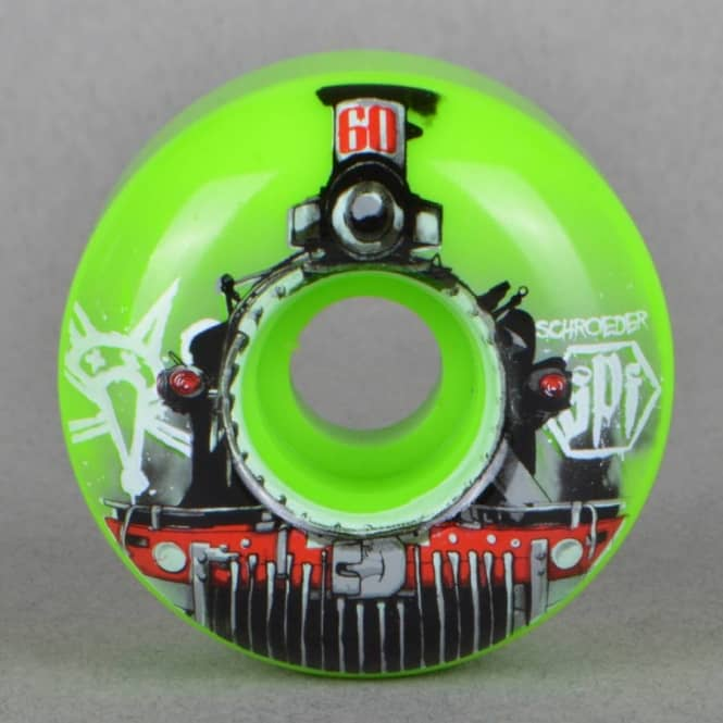 Bones Wheels Schroeder Train Green SPF Skateboard Wheels 60mm