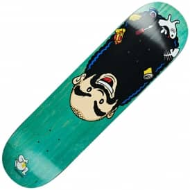 Boserio Upside Down (Green Stain) Skateboard Deck 8.25