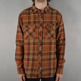 Bowery Long Sleeve Flannel Shirt - Brown/Copper