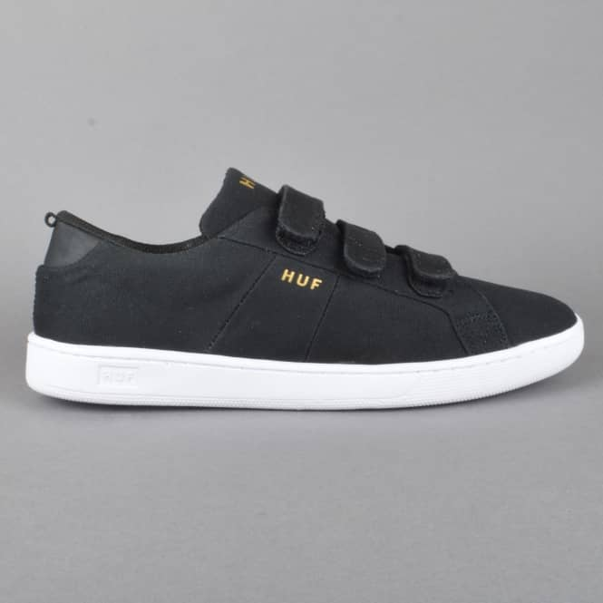 HUF Boyd Skate Shoes - Black Velcro