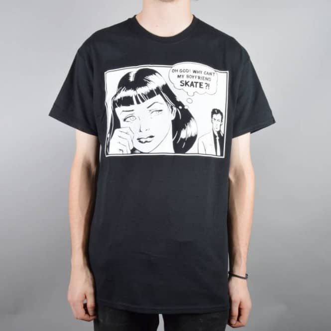 Thrasher Boyfriend Skate T-Shirt - Black